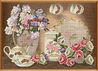 Набор для вышивания в смешанной технике Цветочный чай ННК3286
