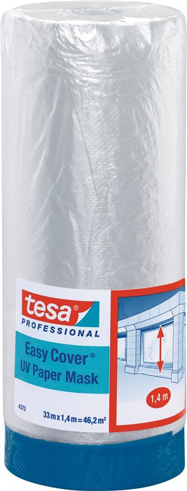 Малярна стрічка з плівкою TESA Easy Cover UV 14м х 1400мм