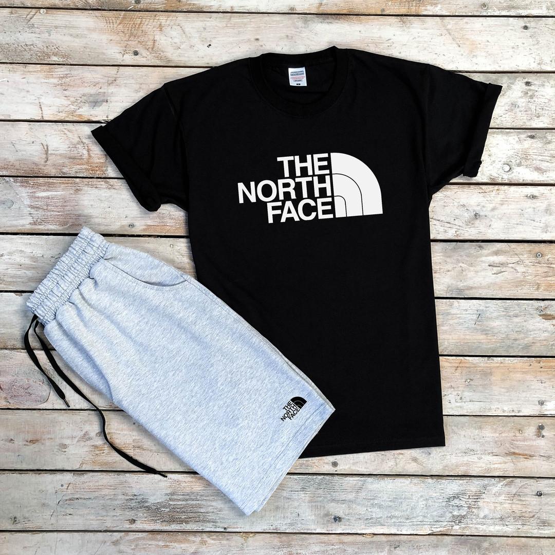 Черная мужская футболка The North Face  качественная хлопковая с короткими рукавами, ТОП-реплика