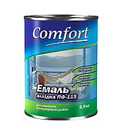 Эмаль алкидная Темно-серая 0,9 кг ТМ Комфорт
