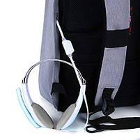 """Современный стильный городской рюкзак T-B3164U 14 """", серый, фото 4"""
