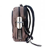 Стильный рюкзак для девушек T-B3174 , кофе, фото 5