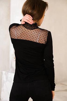 Гольф черный с гипюровой вставкой, фото 2