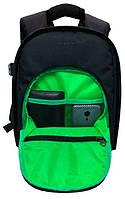 Компактный Рюкзак мужской Tigernu T-X6007, черный, зеленый, фото 2