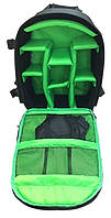 Компактный Рюкзак мужской Tigernu T-X6007, черный, зеленый, фото 3