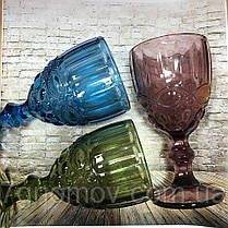 Бокал из цветного синего стекла Виктори 250 мл , фото 3