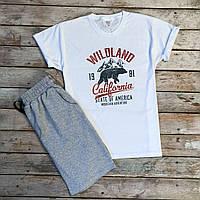 Продается ТОЛЬКО мужская футболка качественная с надписью Wildland белая