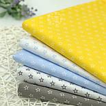 """Лоскут ткани """"Французские звёзды"""" белые на голубом №1848а, размер 25*80 см, фото 8"""