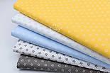"""Лоскут ткани """"Французские звёзды"""" белые на голубом №1848а, размер 25*80 см, фото 9"""