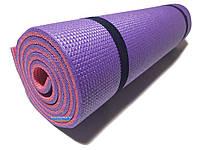 Коврик для йоги и фитнеса, 1800×600×10мм, ХС ППЭ, двухслойный