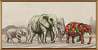 Набор для вышивки крестиком Прогулка слонов СВ 3037