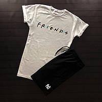 Продается ТОЛЬКО мужская хлопковая футболка с надписью Friends на каждый день (белая), ТОП-реплика