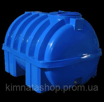 Емкость для воды на 2000 л пластиковая двухслойная синяя усиленная ребром (175*148*126см)