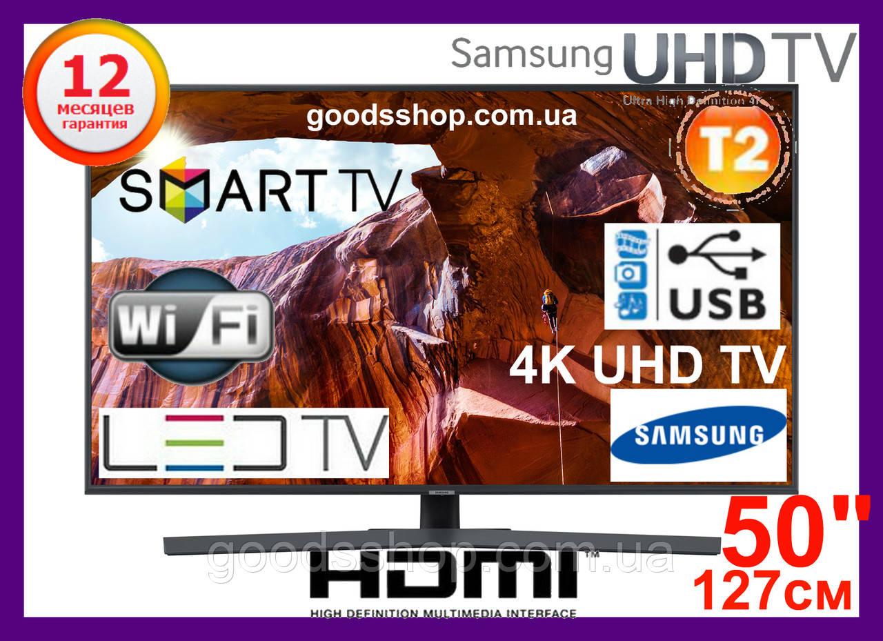 "Телевизор Samsung Самсунг 50 дюймов 4K Ultra HD Smart TV UE50NU7400 Т2 WiFi LED Телевізор 50"" (127см) 2018 (A)"