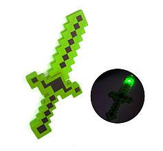 Меч Майнкрафт 38 см зеленый  для мальчиков