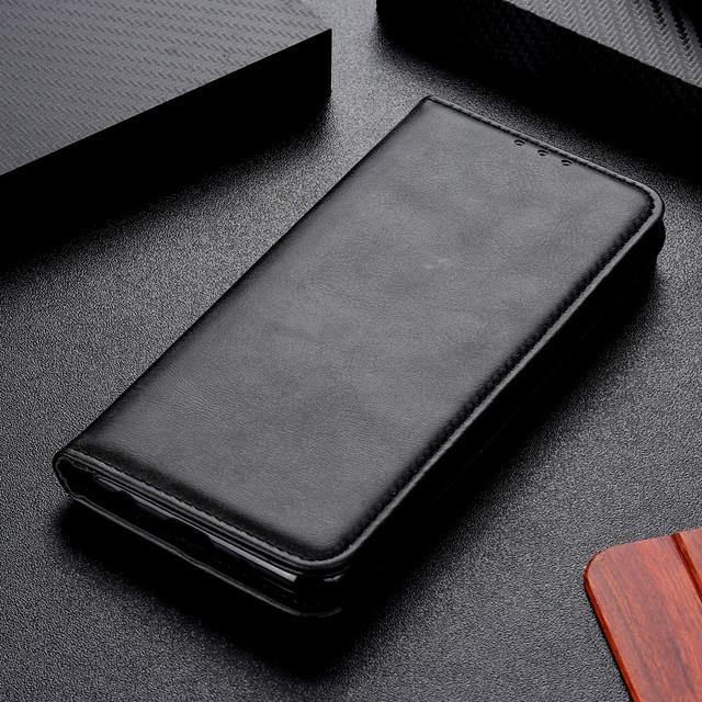 Samsung Galaxy S10 lite чехол книжка натуральная кожа черный