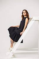"""Вечернее женское платье """"Черная икра"""", код К-012, черное"""