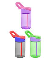 Бутылка д/воды пл. HEREVIN SIMPLE 0.43 л д/спорта с трубочкой (161802-000)