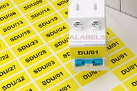 Наклейки для маркировки силовых автоматов в 2U для печати на лазерном принтере 18х35 мм