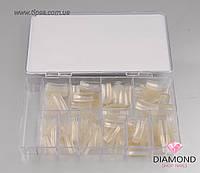 Типсы IBD Nail Tips Прозрачные 500 шт