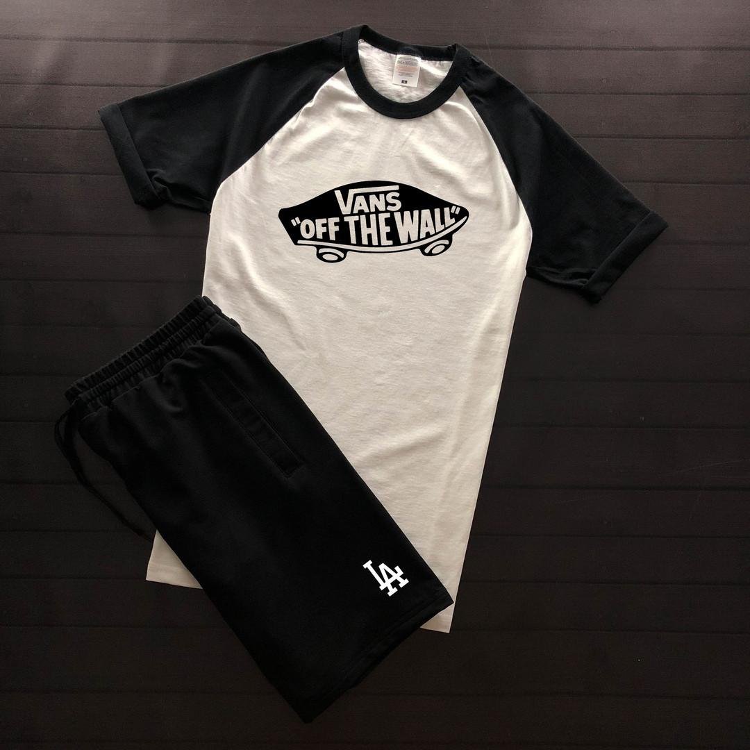 Продается ТОЛЬКО футболка мужская Vans off the Wall хлопок повседневная (черно-белая), ТОП-реплика