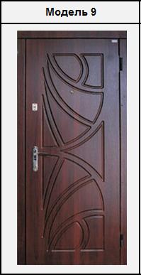 Металеві двері вхідні з МДФ (10мм) накладками 2020х860