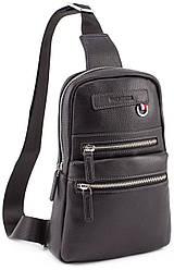 Кожаный слинг рюкзак на одно плечо Marco Coverna