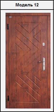 Двері металеві з МДФ (16мм) 2020х860