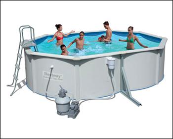Сборно-каркасный бассейн с металлической стенкой