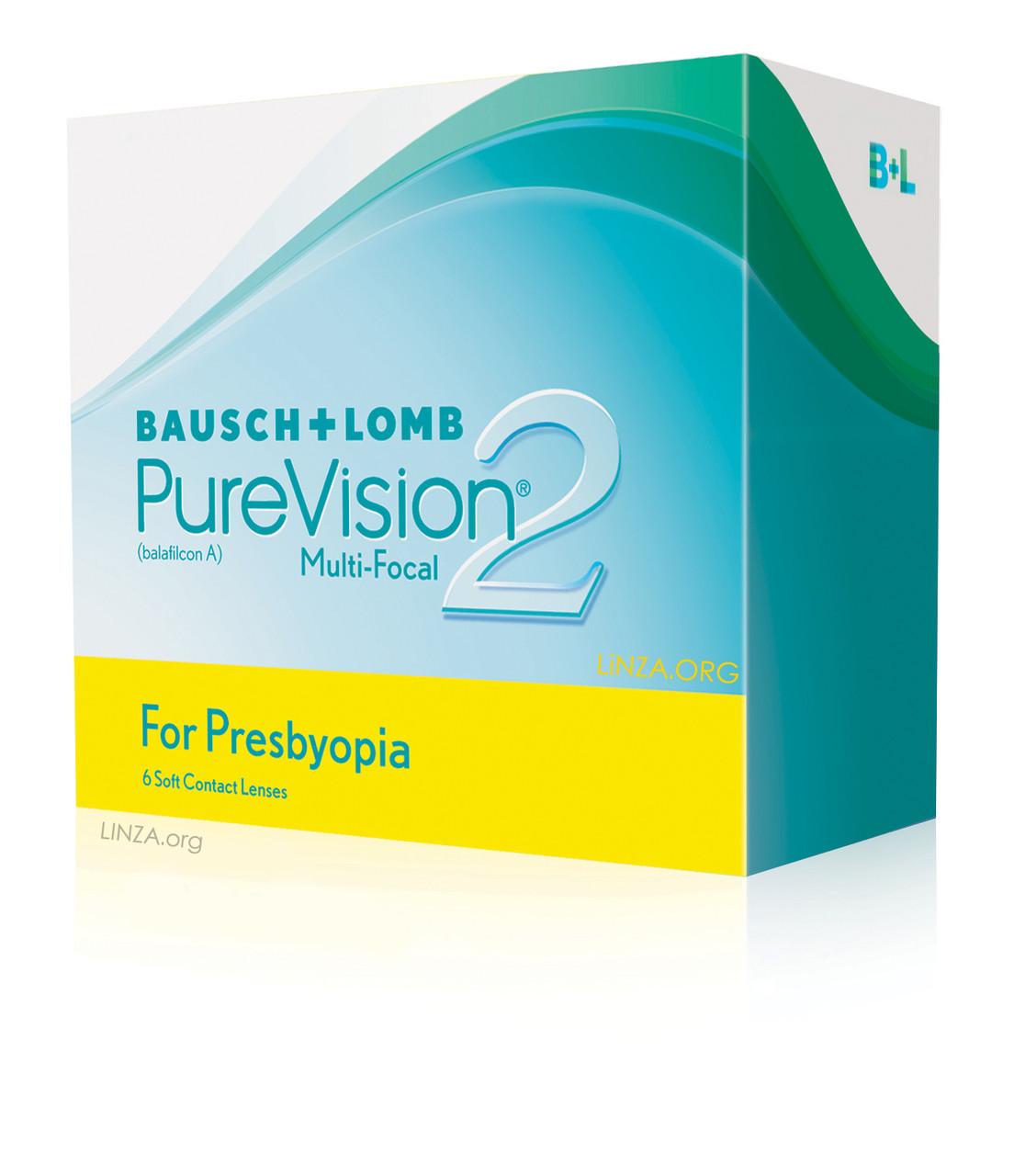 Контактная линза PureVision 2 Multi-Focal 2линзы (1 месяц)