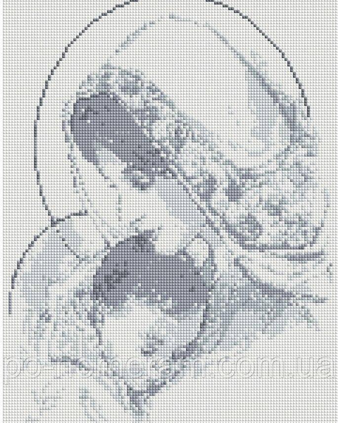 Алмазная живопись Алмазна мозаїка Мадонна с младенцем (DGF028) 40 х 50 см (Без подрамника)