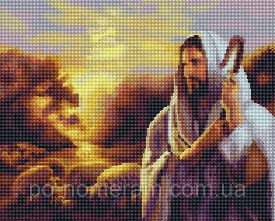 Вышивание камнями Алмазна мозаїка Иисус добрый пастырь (GF367) 40 х 50 см (Без подрамника)