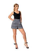 Стильные женские шорты №226 (серый с синим)