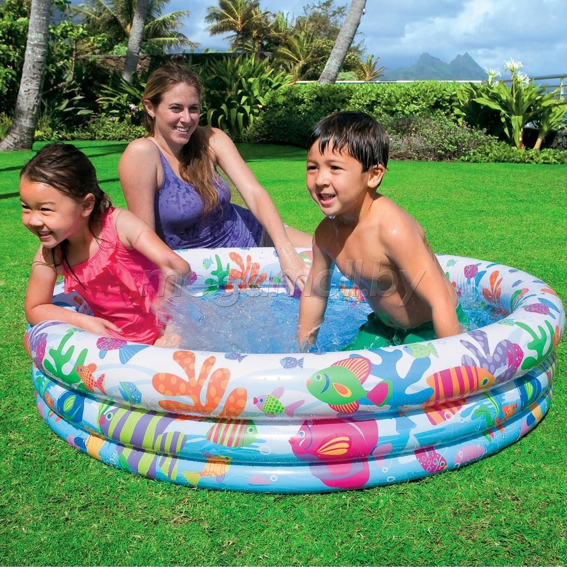 """Детский надувной бассейн """"Подводный мир"""", Интекс 59431"""