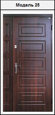 Двостулкові вхідні двері МДФ 2020х1200