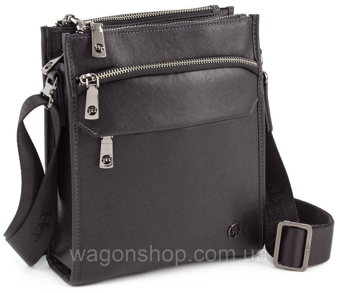 Повседневная мужская сумка планшет с плечевым ремнем H.T Leather (10164)