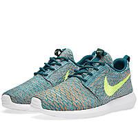 Женские кроссовки Nike Roshe Flyknit green, фото 1