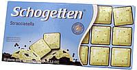 Шоколад молочно-белый Schogеtten Stracciatella (с Пломбиром) 100г.