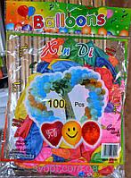 Шары воздушные Balloons 100 шт.