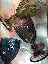 Набор 6 бокалов из цветного стекла Изольда 200 мл, фото 3