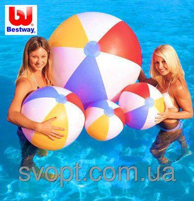 Мяч надувной разноцветный (41 см)