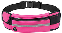 Спортивная сумка на пояс для телефона Розовый, фото 1