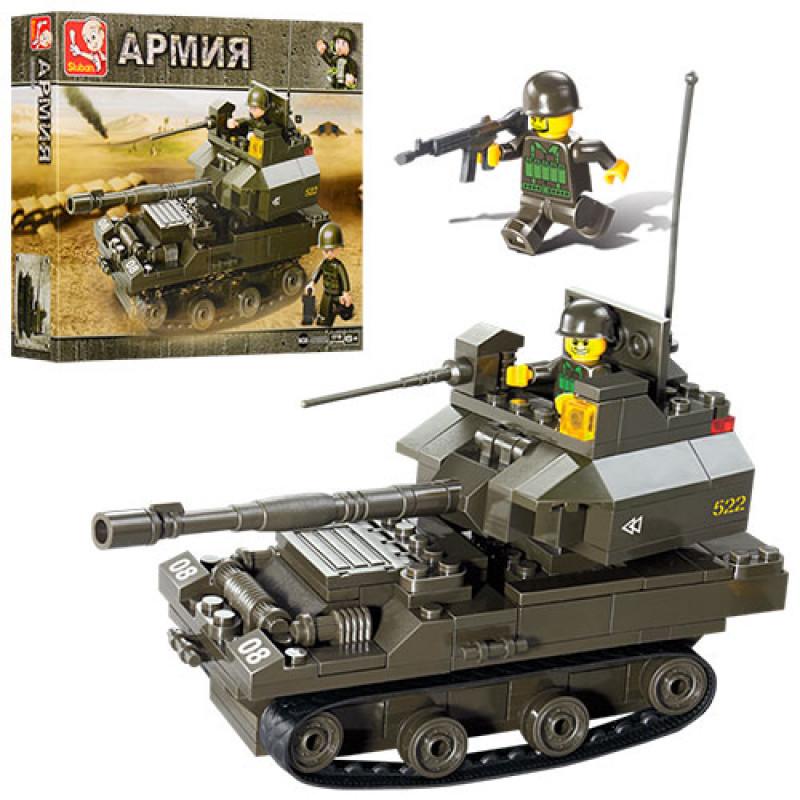 "Конструктор ""SLUBAN"", ""Армия"", танк, фигурки, 178 деталей, M38-B0282"