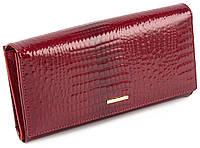 Женский лаковый кошелек под много карточек Marco Coverna