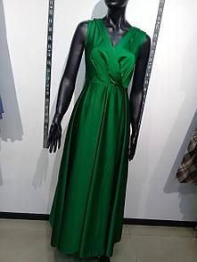 Платье зеленое в пол VSV