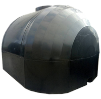 Емкость для перевозки пищевой воды 6000 литров КАС двухслойная  с крышкой клапаном