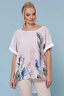 Летняя блуза с коротким рукавом большие размеры