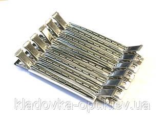 Зажим для волос парикмахерские Gloris металлический с отверстиями в наборе 12 шт