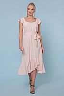 Летнее платье в горошек больших размеров, фото 1