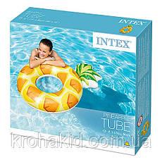"""Надувний круг для плавання Intex 56266 NP """"Ананас"""" 117см, від 6-ти років, фото 2"""
